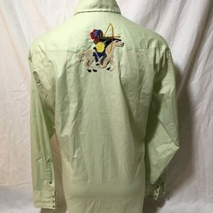 Tem Tex Shirts - Vintage Embroidered Western Button up